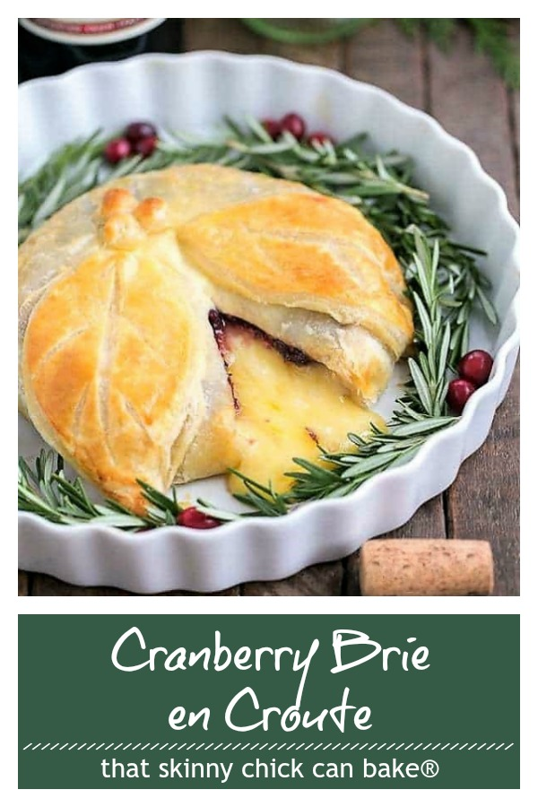 Cranberry Brie en Croute photo and text collage