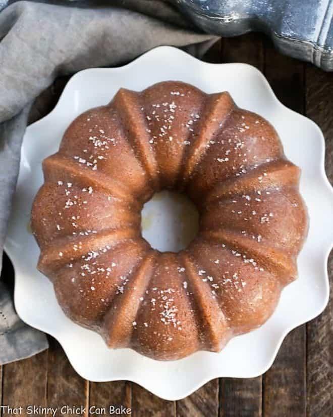 Kentucky butter cake baked in a bundt pan