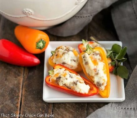 Cream Cheese Stuffed Mini Peppers featured image