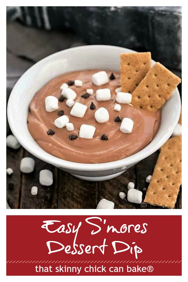 Easy S'mores Dip photo and text collage