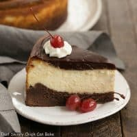 Hot Fudge Brownie Cheesecake | 3 layers of dessert deliciousness!