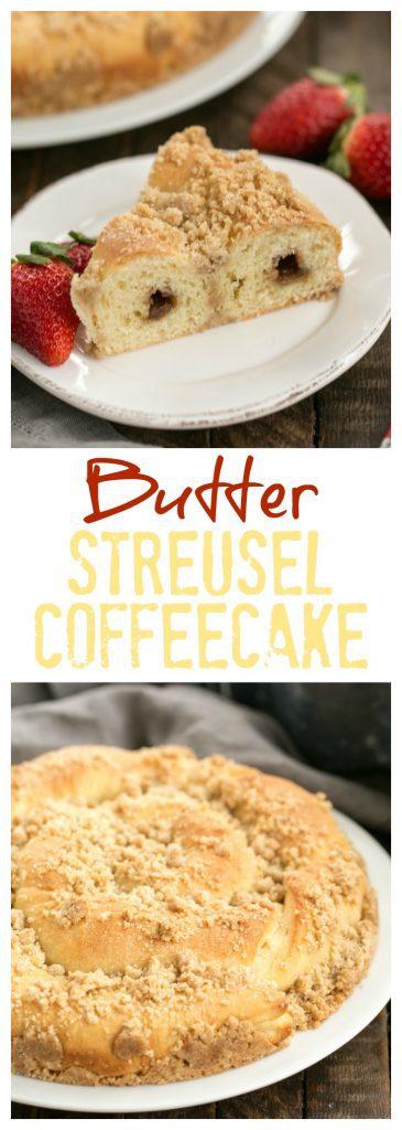 Copycat Sara Lee Butter Streusel Coffeecake Pinterest collage