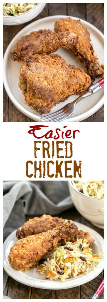 Perfect Fried Chicken photos and text collage