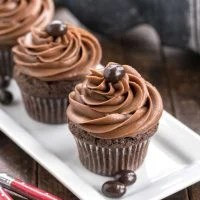 Frosted Chocolate Mocha Cupcakes | Moist, decadent chocolate cupcakes and creamy chocolate buttercream intensified with coffee!
