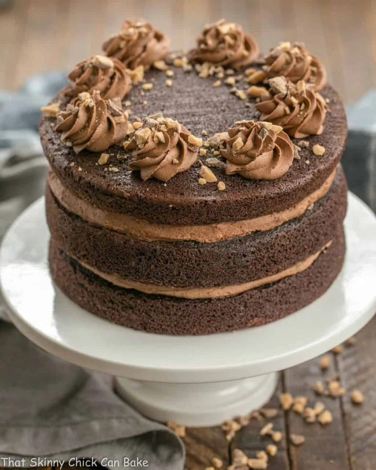 Triple Layer Chocolate Toffee Cake