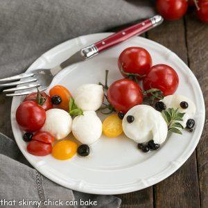 Burrata Caprese Salad with Balsamic Pearls