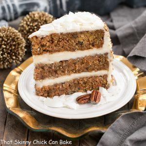 Caramel Filled Carrot Cake