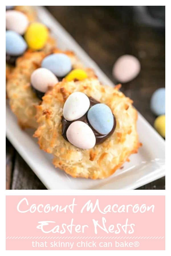 Coconut Macaroon Easter Nests pinterest collage