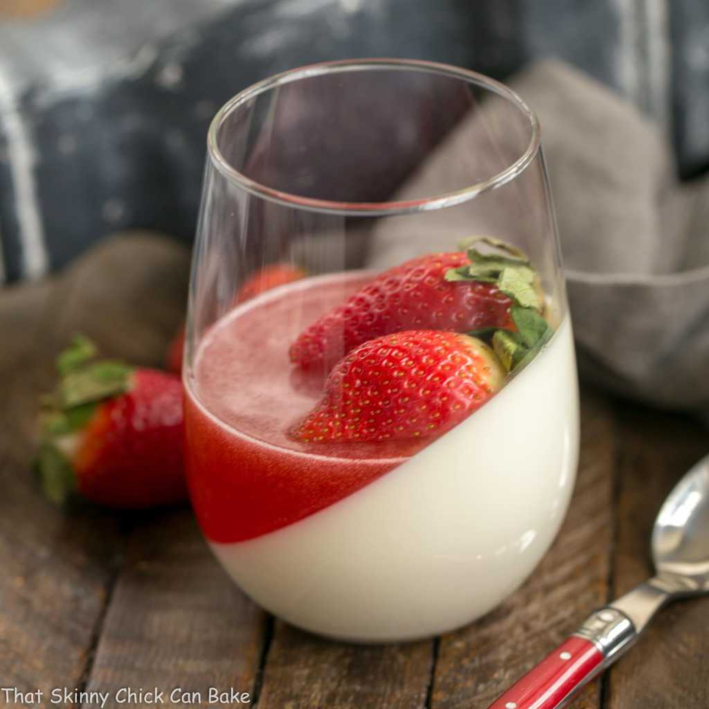Vanilla Panna Cotta with Strawberry Gelée