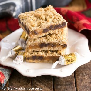 Oatmeal Caramel Bars Recipe