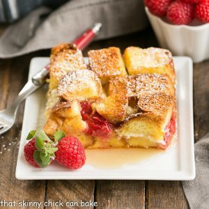Raspberry Mascarpone French Toast Casserole