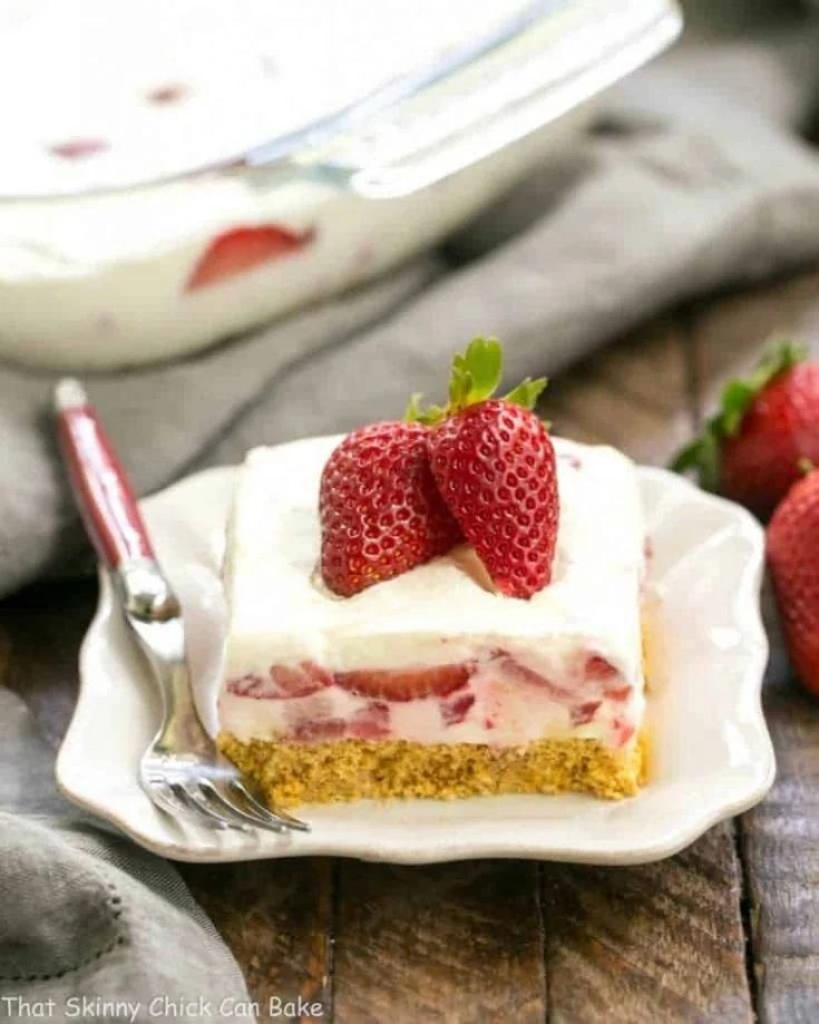 Strawberry Cheesecake Lush Dessert