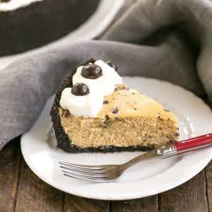 Mocha Cheesecake with Chocolate Chips