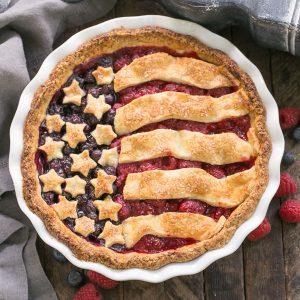 Patriotic Stars and Stripes Berry Pie