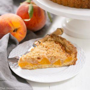 Streusel Topped Peach Tart