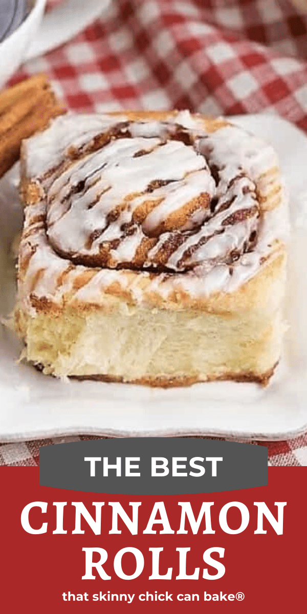 The Best Cinnamon Rolls photo and text collage for Pinterest