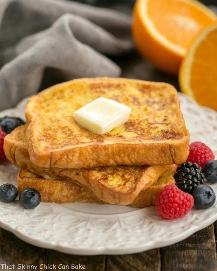 Grand Marnier French Toast - a double dose of orange added to this classic breakfast dish