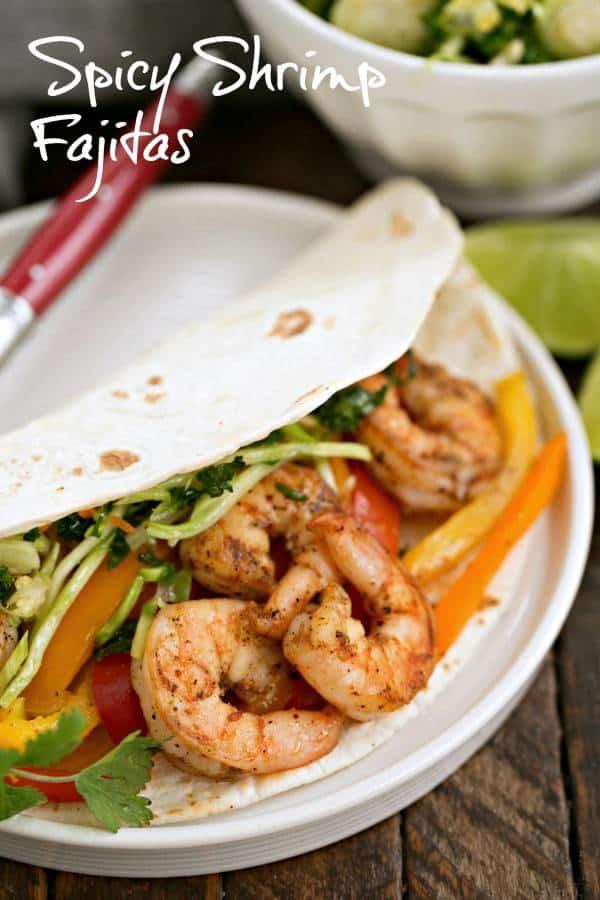 Spicy Shrimp Fajitas