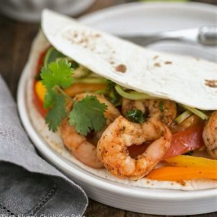 Spicy Shrimp Fajitas - an easy seafood recipe with a southwest flair