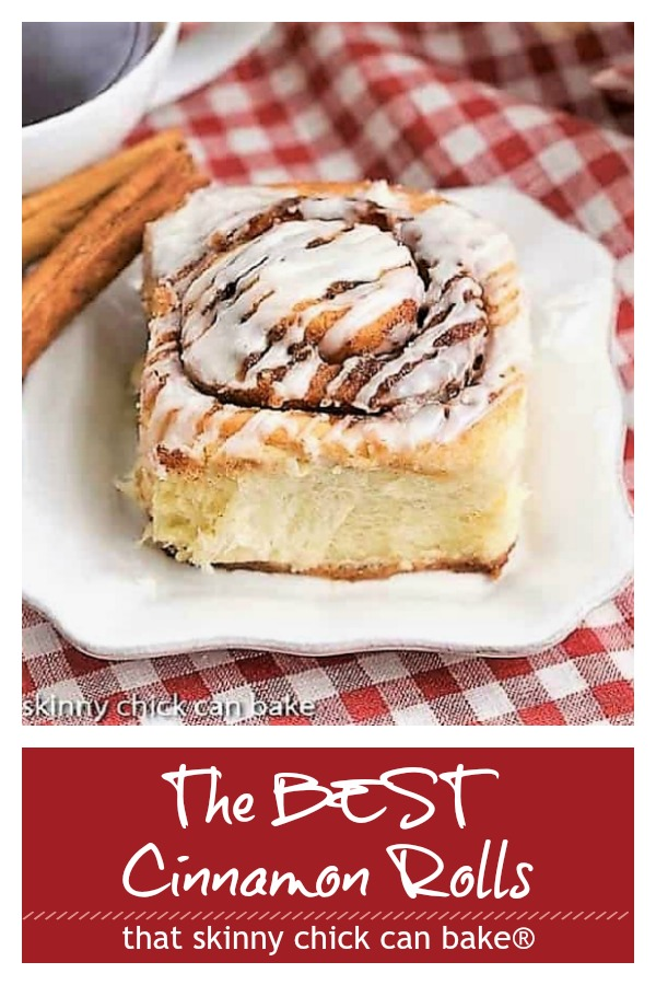Cinnamon roll photo and text collage