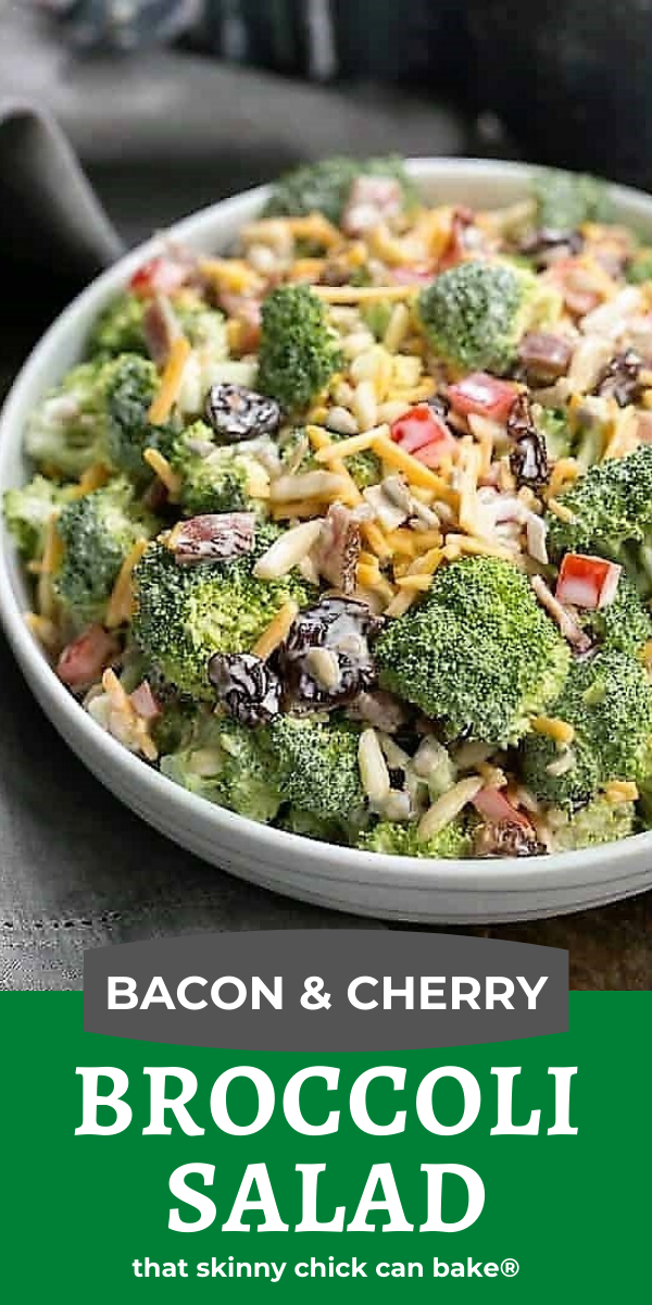 Broccoli Salad photo and text collage