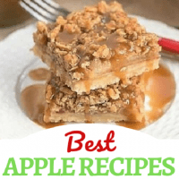 Best Apple Recipes collage with a photo over a title text box