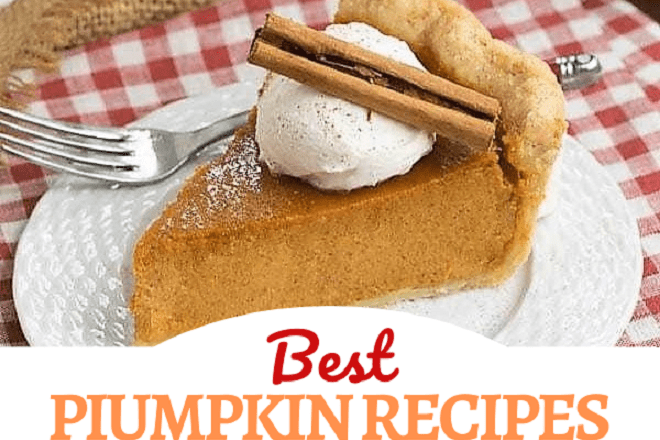 Best Pumpkin Recipes collage with 1 photo and text box