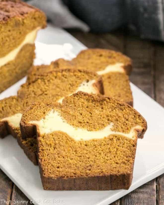 Cream Cheese Filled Pumpkin Bread