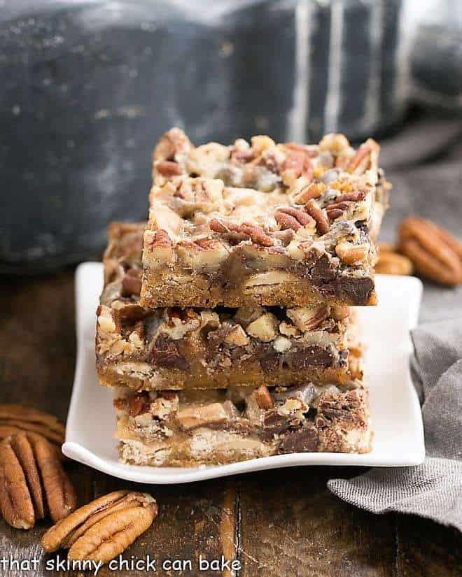 Toffee Caramel Magic Cookie Bars