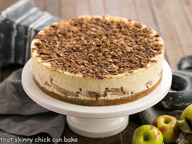 Apple Crisp Cheesecake featured image
