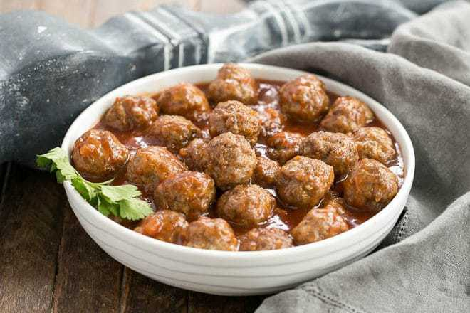 Apricot Glazed Cocktail Meatballs featured image