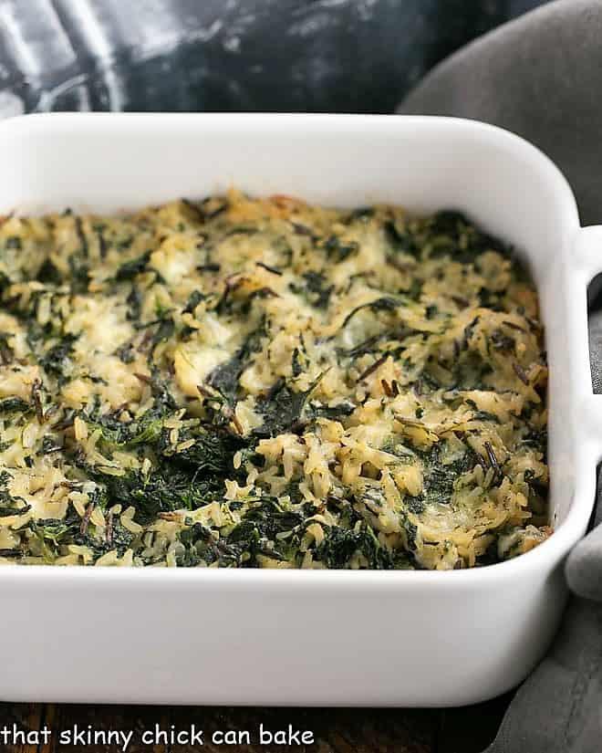 Cheesy Spinach Rice Casserole