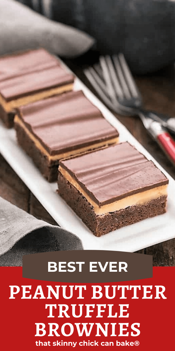 Peanut Butter Truffle Brownies pin collage