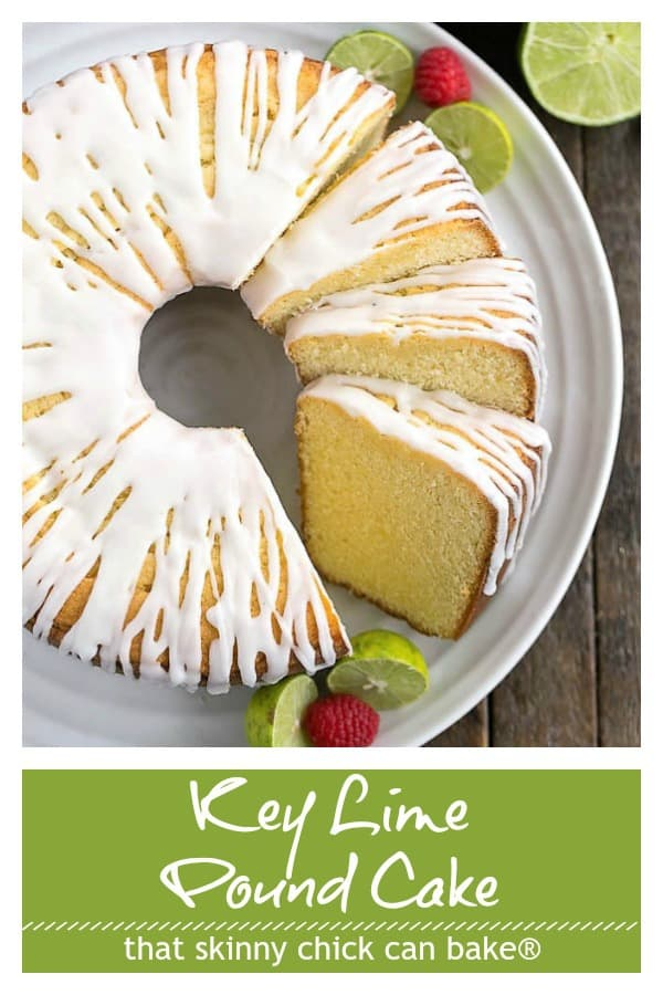 Key Lime Pound Cake Pinterest text and photo collage