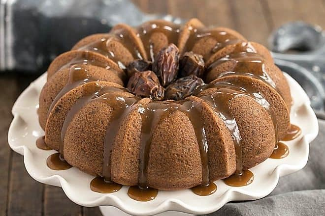 Caramel Topped Date Cake featured image