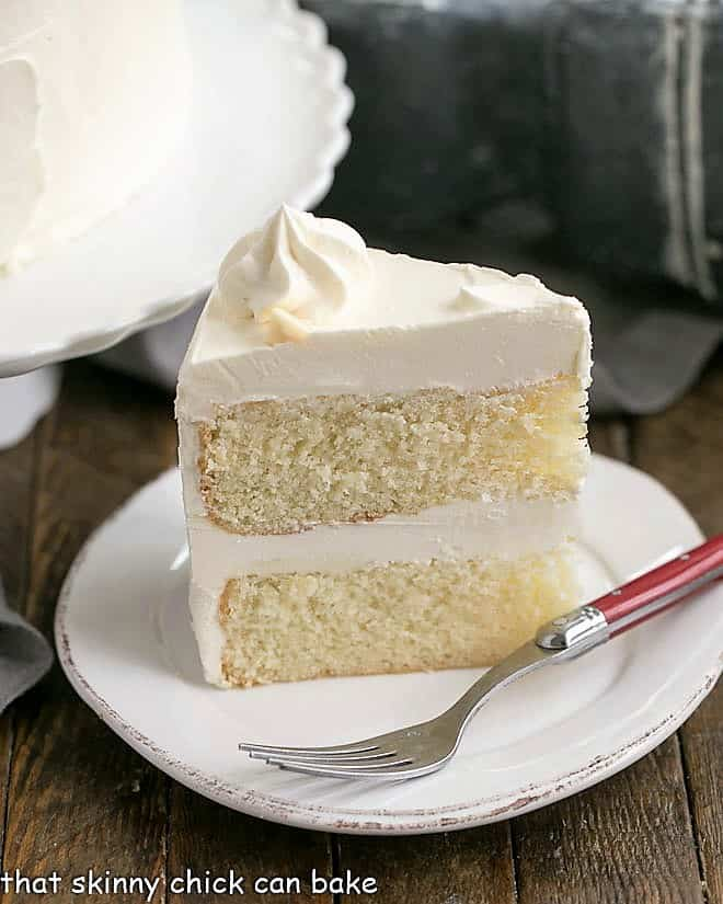 Classic White Layer Cake with White Chocolate Buttercream
