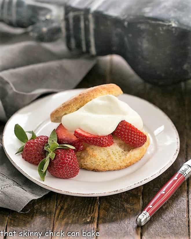 Strawberry Shortcake with White Chocolate Whipped Cream