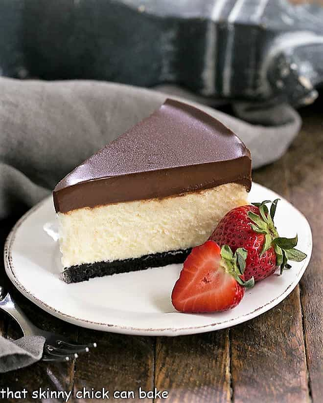 Ganache Topped Cheesecake