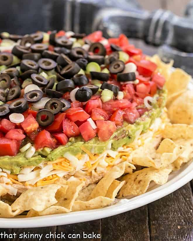Easy Layered Taco Dip That Skinny Chick Can Bake