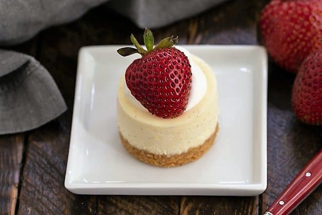Mini Vanilla Bean Cheesecakes featured image