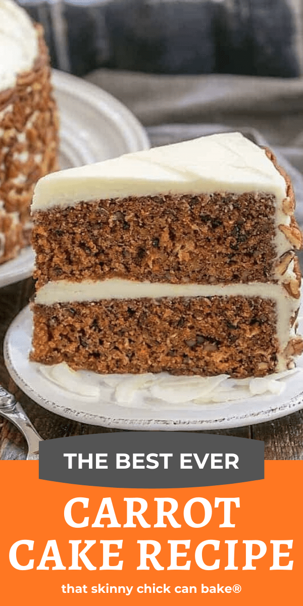 Classic carrot cake photo and text collage