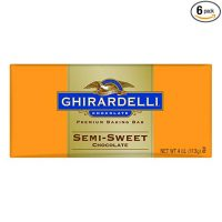 Ghirardelli Chocolate Baking Bar, Semi-Sweet Chocolate, 4-Ounce Bars (Pack of 6)