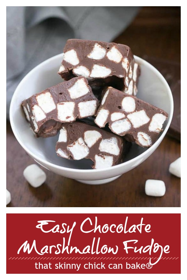 Easy Chocolate Marshmallow Fudge photo and text collage