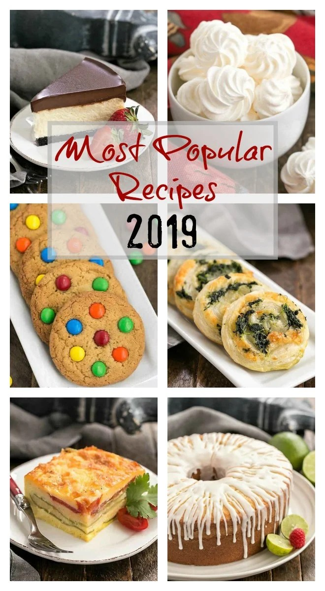 The Most Popular Recipes of 2019 photos and text collage