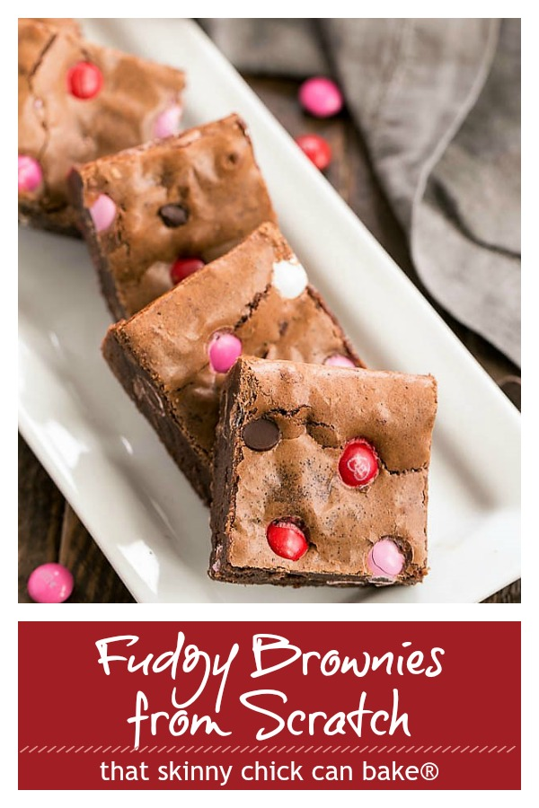 Fudgy brownies from scratch photo and text collage