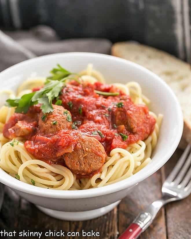 Pasta Sauce Recipe in a white ceramic bowl