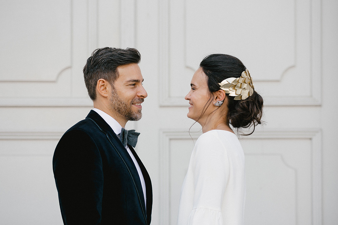 Heimliche Hochzeit in Berlin - das Brautpaar