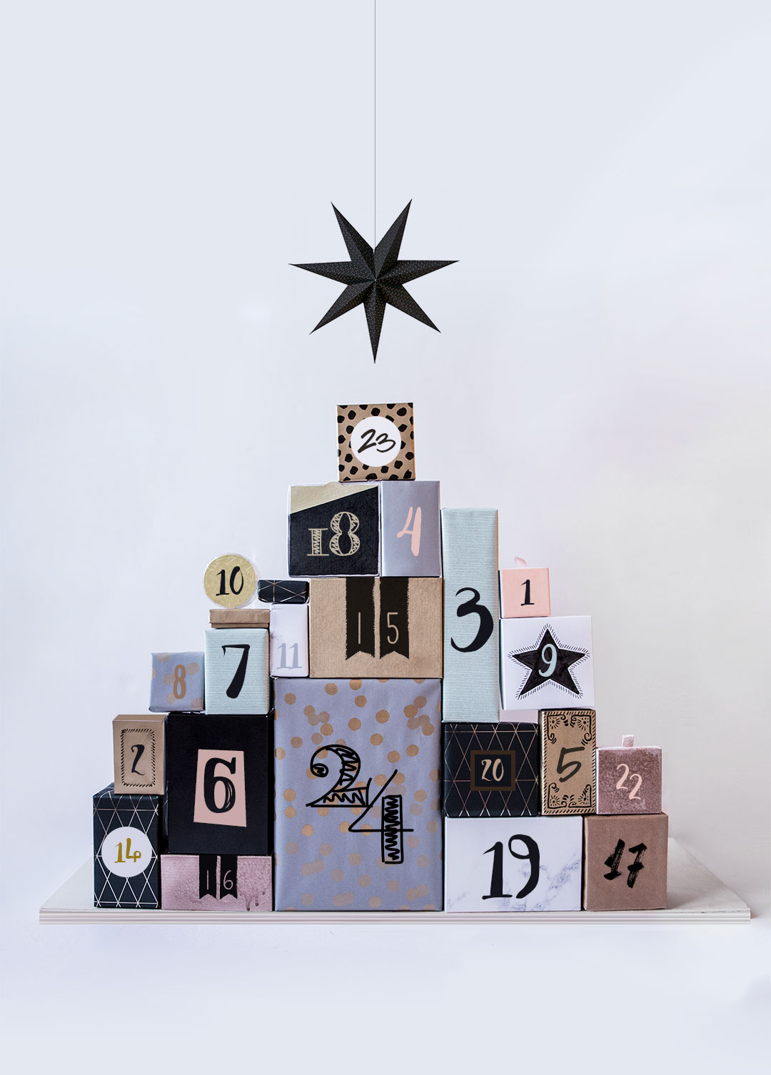 Tannenbaum Adventskalender DIY