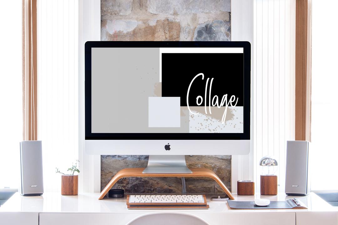 Design Schreibtisch mit IMac