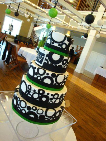 black-and-white-abstact-circle-cake-utah